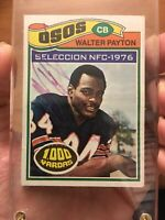 1977 Topps Mexican # 360 Walter Payton Signed Autograph RARE! One of a kind