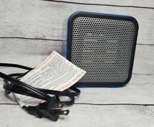 Amazon Basics 500-Watt Ceramic Small Space Personal Mini Heater - Blue