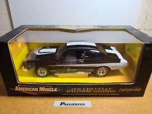 1970 Chevy Chevelle Baldwin Motion Tuxedo Black 1:18 Ertl American Muscle MIB