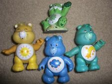 vintage 80's care bears vinyl wish grumpy figure doll + good luck figure lot