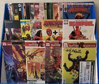 LOT OF 30 BLACK PANTHER & DEADPOOL + OTHER COMICS (#1 SIGNED) MARVEL/ DC/ IMAGE