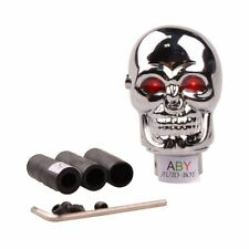 ABy Skull Shape Auto Car Aluminium Alloy Gear Stick Shift Shifter Lever Knob wit
