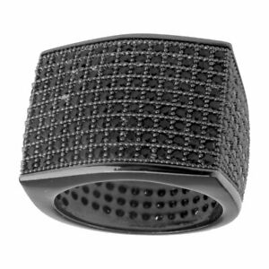 ICED Bling Micro Pave Ring - BLOCK black