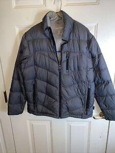 Calvin Klein Large Gray Down Lightweight Packable Puffer Jacket