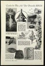 """Birdhouse 1935 HowTo Info Design Plans """"Castles in the Air for Friendly Birds"""""""
