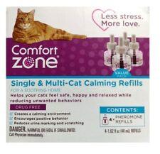 Comfort Zone Multi-Cat Four (4) Refills for Cats & Kittens, 48ml Each Bottle