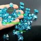 20 x beads lake sky blue octagon k9 crystal glass suncatchers mobiles 14mm craft