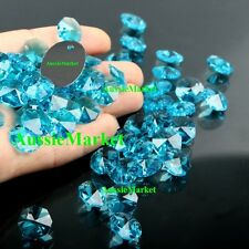 20 x beads lake sky blue octagon k9 crystal glass suncatchers mobiles 14mm craft