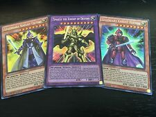 YUGIOH: LEGENDARY KNIGHT CRITIAS + HERMOS + TIMAEUS THE KNIGHT OF DESTINY - DRL2