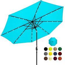 New listing Led Lighted Patio Umbrella w/ Tilt Adjustment, Fade-Resistant Fabric