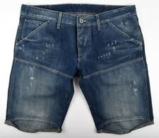 G-STAR RAW, Elwood Jeans Shorts, taille w34 bleu used look vintage 1/2 Short Neuf!
