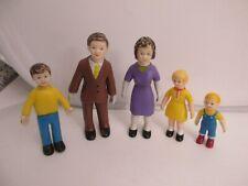 5 Vintage Marvel Education Figures ~ Family a bit worn
