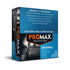 Promax Protein Bar, Chocolate Chip Cookie Dough, 12-Pack, 2.64 OZ Each