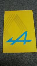 Catalogue brochure Alpine Renault 1988 en français historique