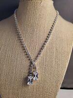 Vintage silver toned Monet crystal necklace