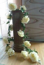 Rosengirlande / Edelgirlande creme  ca.250 cm  Seidenblumen