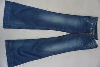 PEPE JEANS Glaze Stretch Hose Flared Bootcut Schlag 29/34 W29 L34 blau Neu AB32
