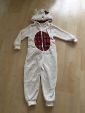 Next Girls Fleece All In One Pyjamas 5 years    Scottie Dog