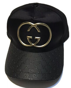 Black And Gold Gucci Baseball Hat - Gucci GG Designer Cap - Fits S to XL