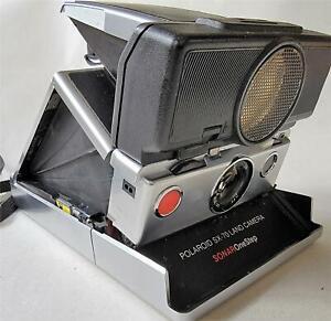 Polaroid SX-70 Land Camera Black Sonar One Step
