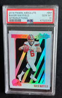 2018 Panini Absolute Introductions #BM Baker Mayfield RC Rookie PSA 10 Gem Mint