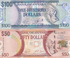 GUYANA,,SET .2016..$100.$50. UNC BANKNOTES (D)