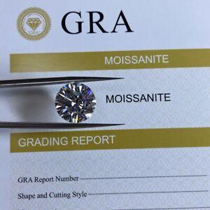 White Loose Moissanite Stone D Color Round VVS1 with GRA Certificate diamond