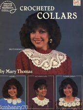 Crocheted Collars - American School of Needlework Pattern Leaflet 1047 Free Ship