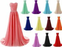 New Long Chiffon Evening Formal Party Ball Gown Prom Bridesmaid Stock Dress 6-22