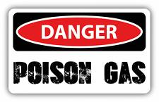 "Danger Poison Gas Sign Warning Car Bumper Sticker Decal 6"" x 4"""