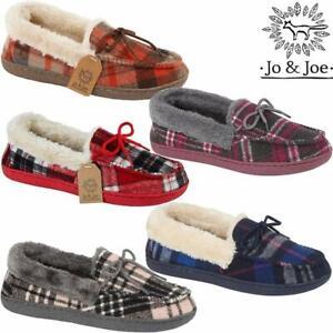Ladies Moccasins Slippers New Faux Sheepskin Fur Memory Foam Warm Winter Shoes