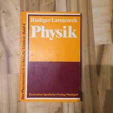 Physik-Buch, Rüdiger Lawaczeck, Deutscher Apotheker Verlag, Band 4