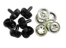 Negro/Animal Juguete De Seguridad Perros narices metal respalda 15mm Suave Juguete Animal Craft X 6