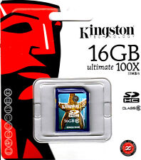 Kingston 16 GB SD Class 6 Ultimate 100X 15MB/s Retail SD6G2/16GB