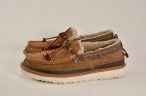 Ugg Dex Slip On Wool Loafer Slippers Moccasins Brown | Men's Size 9