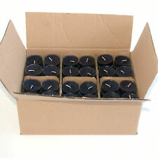 120 scented Tea lights candles in Black 4 hour burn time