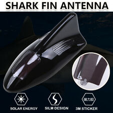 1PCS Black Car Shark Fin Antenna FM/AM Connection Cable LED Warning Light+Remote