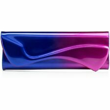 100% AUTH NEW CHRISTIAN LOUBOUTIN PIGALLE  METTALIC OMBRE CLUTCH BAG
