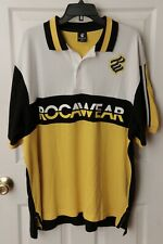 Rocawear Polo Shirt Black/Yellow/White Size 4XL