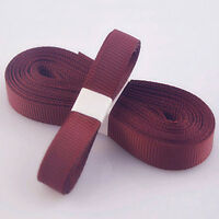 """5yds 3/8"""" (10 mm) Red Wine Solid Christmas Grosgrain Ribbon Hair Bows Ribbion#"""