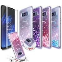 Liquid Glitter Shockproof Case W/ Screen Protector For Samsung Galaxy S8 S8 Plus