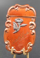 AMAZING MIXED METALS COPPER ON STERLING MATCH SAFE SILVER VESTA HOLDER