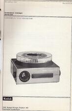 Kodak Reparaturanleitung für Carousel S-AV - Original Ausgabe