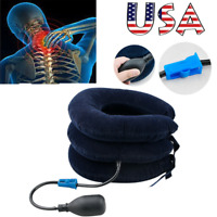 Air Inflatable Pillow Cervical Neck Pain Traction Support Brace Device Massager