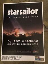 More details for starsailor -  concert / gig poster, glasgow  - october 2017