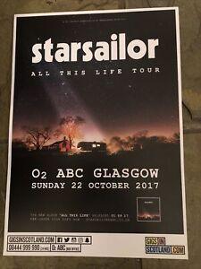 Starsailor -  Concert / gig poster, Glasgow  - October 2017
