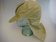 NEW Medium Khaki 100% Cotton Low-Profile Stay-Cool Golf Hat w/Neck Cape (B459)pt
