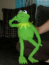 "JIM HENSON PROFESIONAL KERMIT THE FROG FULL HAND PUPPET 28"" WITH BENDY FINGERS"