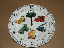 Vintage Porcelain wall clock CARS LOUISE WILDE In working condition NEW battery