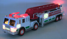 REDUCED--2000 Hess fire toy truck-NIB-1st tractor drawn aerial ladder truck/bag